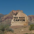 Picture - Sign for Red Rock Canyon National Conservation Area.