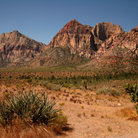 Picture - Red mountains of Red Rock Canyon National Conservation Area.