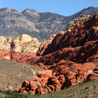 Picture - The red landscape of Red Rock Canyon.