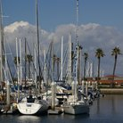 Picture - Sailboats docked at the Redondo Beach Marina.
