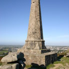 Picture - Stone monument on Carn Brea, above Redruth.