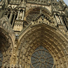 Picture - The facade of the Reims Cathedral.