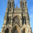 Picture - The ornate facade of the Cathedral in Reims.