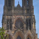 Picture - Dramatic facade of the Reims Cathedral.