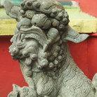 Picture - A Stone lion statue in Hong Kong's Repulse Bay.