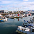 Picture - Boats docked in the Reykjavík Harbor.