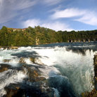 Picture - View of the Rhine Falls near Schaffhausen.