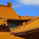 Picture - Roof of a Buddhist temple in Richmond.