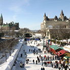 Picture - Skating on the canal at Ottawa's Winterlude Festival.