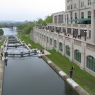 Picture - Shipping locks on the Rideau Canal in downtown Ottawa.