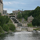 Picture - Locks on the Rideau Canal in Ottawa.