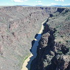 Picture - Overview of the Rio Grande Gorge near Taos, New Mexico.