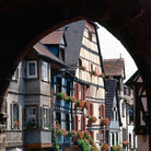 Picture - View of Riquewihr through a gate.