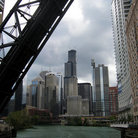 Picture - Lift bridge over the Chicago River in Chicago, IL.