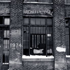 Picture - An old brick store front in Detroit's Rivertown.