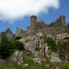 Picture - Looking up the Rock of Cashel.