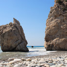 Picture - The legendary Aphrodite's Rock at Paphos.