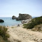 Picture - The famous Rock of Aphrodite near Paphos.