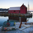 Picture - Fishing shack in Bearskin Neck Wharf near Rockport, MA.
