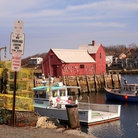 Picture - Colorful fishing port in Rockport, MA.