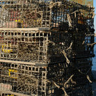 Picture - Lobster traps in Rockport, MA.