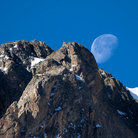 Picture - Moonset over Rocky Mountain National Park.