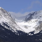 Picture - Snowfield in Moraine Valley of Rocky Mountain National Park.