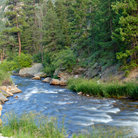 Picture - Small river in the Rocky Mountains.