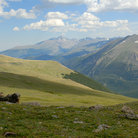 Picture - Trail Ridge Road in the Rocky Mountain National Park.
