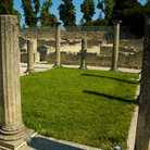 Picture - Columns at the ruins of Vaison-la-Romaine.