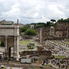 Picture - View of Forum with Tempio di Saturno & Via Sacra, Rome.