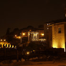 Picture - Rome Forum at night.