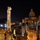 Picture - Forum at night in Rome.