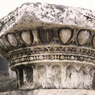 Picture - Detail of a column in the Roman forum in Rome.