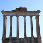 Picture - Ruins of the Foro Romano in Rome.