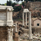 Picture - Forum in Rome, was formerly religious, political, & commercial center of Roman empire.