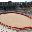 Picture - Bullring at the Roman Theatre in Arles.