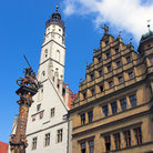 Picture - The Town Hall in Rothenburg.