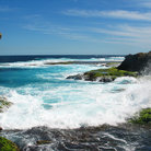 Picture - Waves crashing on Rottnest Island.
