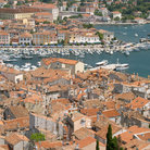 Picture - View of the historical centre and harbour of Rovinj.