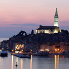 Picture - Sunset over the beautiful town of Rovinj.