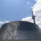 Picture - The round Roy Thompson concert hall in Toronto.