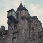 Picture - An old clock on the Royal Mile in Edinburgh.