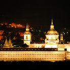 Picture - El Escorial Monastery in Madrid at night.