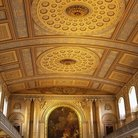 Picture - The ornate ceiling of the Royal Naval College at Greenwich.