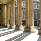 Picture - Pillars of the Royal Naval College in Greenwich.