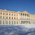 Picture - The Royal Palace in Oslo in winter.