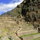 Picture - Hillside ruins at Ollantaytambo.