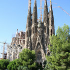 Picture - View of Gaudi's Sagrada Família cathedral in Barcelona Spain.