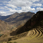 Picture - Terraced hillside in the Sacred Valley.